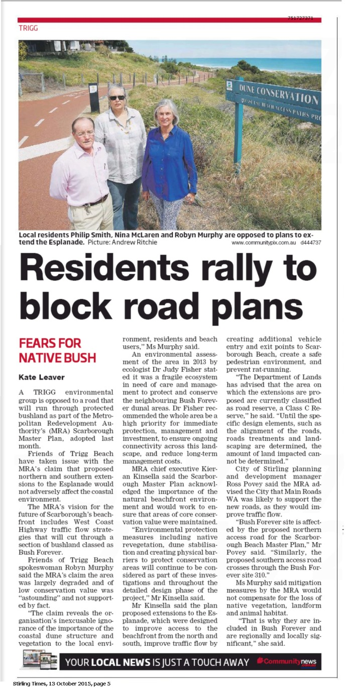 Stirling Times 151013 p5 Residents Rally