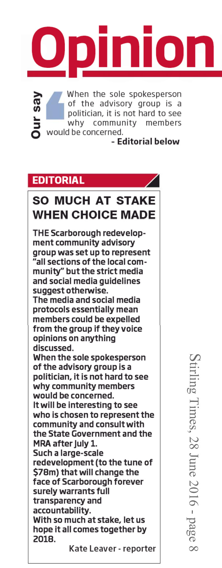 Stirling Times 160628 p8 Editorial - So Much At Stake
